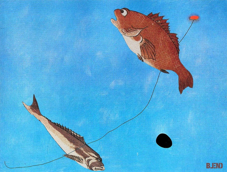 Joan Miró & Utagawa #Kuniyoshi  | Blue III & Fish's psyche.  #art #paintings #blend