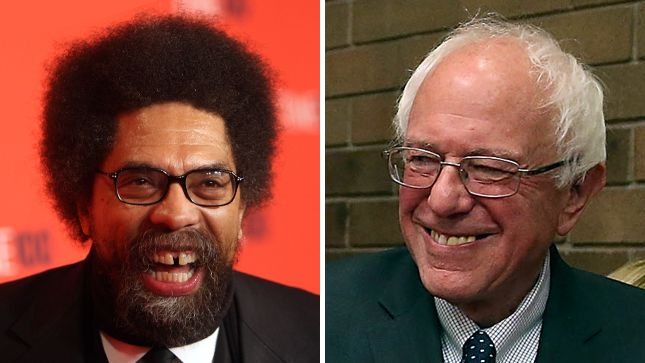 """Academic and activist Cornel West wrote Saturday that Sen. Bernie Sanders (I-Vt.) is """"better for black people"""" than Hillary Clinton."""