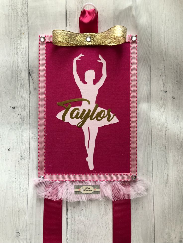 Hair Bow Holder - Personalized Ballerina, Dance Bow Holder