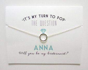 Gold Bridesmaid Card Bridesmaid Proposal Ask by PetalandPaperie