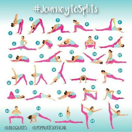Journey to splits stretches