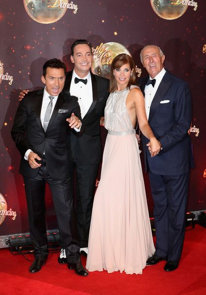 Judges Bruno Tonioli, Craig Revel Horwood, Darcey Bussell and Len Goodman arrive for the launch of 'Strictly Come Dancing 2016' at Elstree Studios on August 30, 2016 in Borehamwood, England.