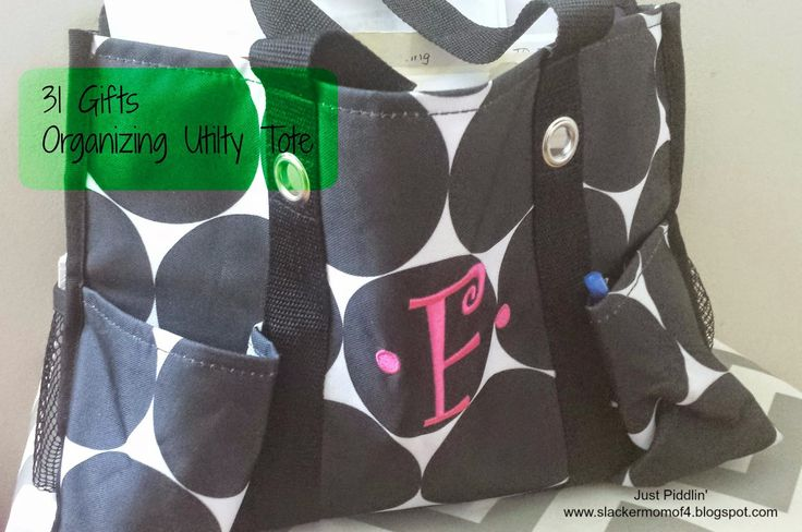 The Organizing Utility Tote is a great mobile office. #31Uses  just piddlin': Get Organized with Thirty-One Totes