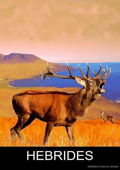 Hebridies (Red Deer) by MomboloArt