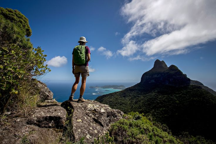 Admiring the view from Mt Gower | 7 Peaks Walk | Lord Howe Island