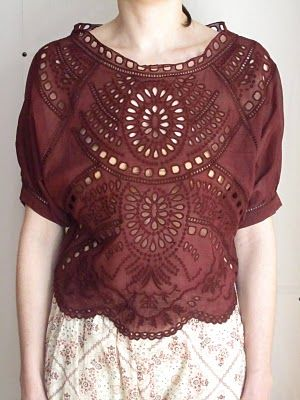 Lace; Isabel Marant; where does one get eyelet fabric like this??