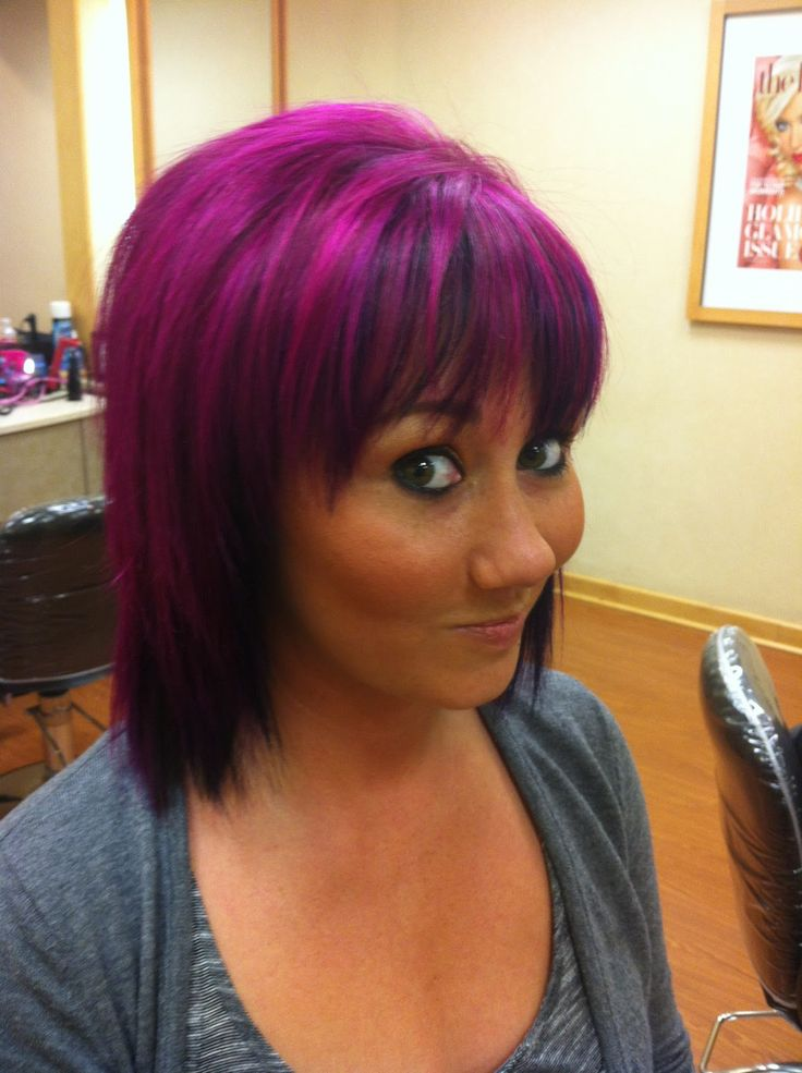 Awesome Hairstyle Idea: Marvelous Dark Red Hair Color Dark Purple ...