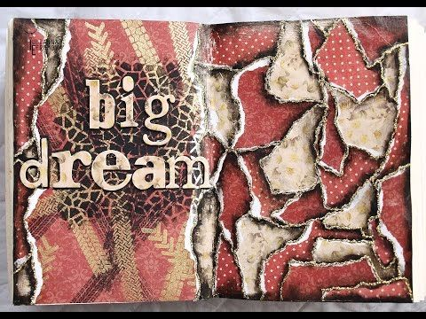 "Handmade by Yulianna: Art Journal Mixed Media ""Big dream"" + Video Tutorial"