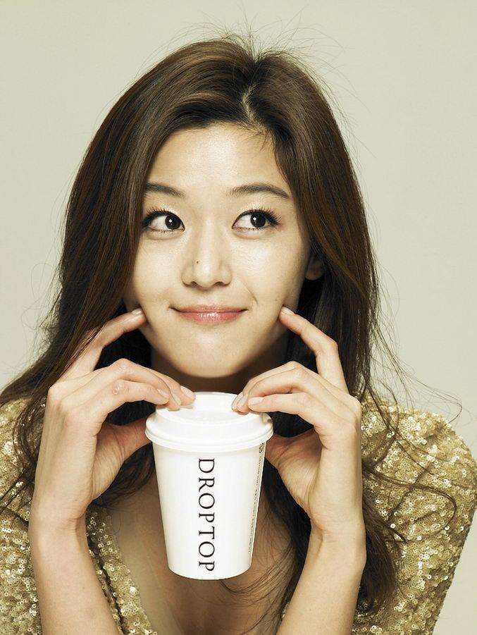 Jun Ji Hyun coffee ads, cute and innocent like naughty ange