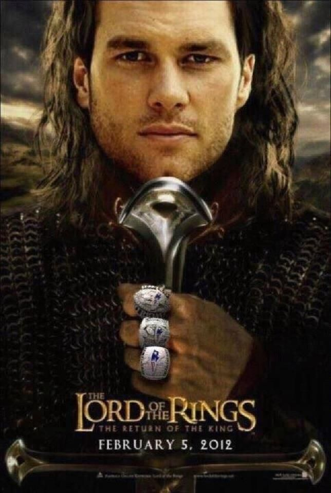tom brady   Tom Brady is the true Lord of the Rings. Hopefully he can capture one ...