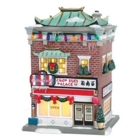 Chop Suey Palace www.teeliesfairygarden.com Fairies enjoy a bowl of an Asian meal, too! The Chop Suey Palace should be a great addition to the Christmas-themed fairy village. Your fairies will love to hang out in this restaurant! #fairychristmas