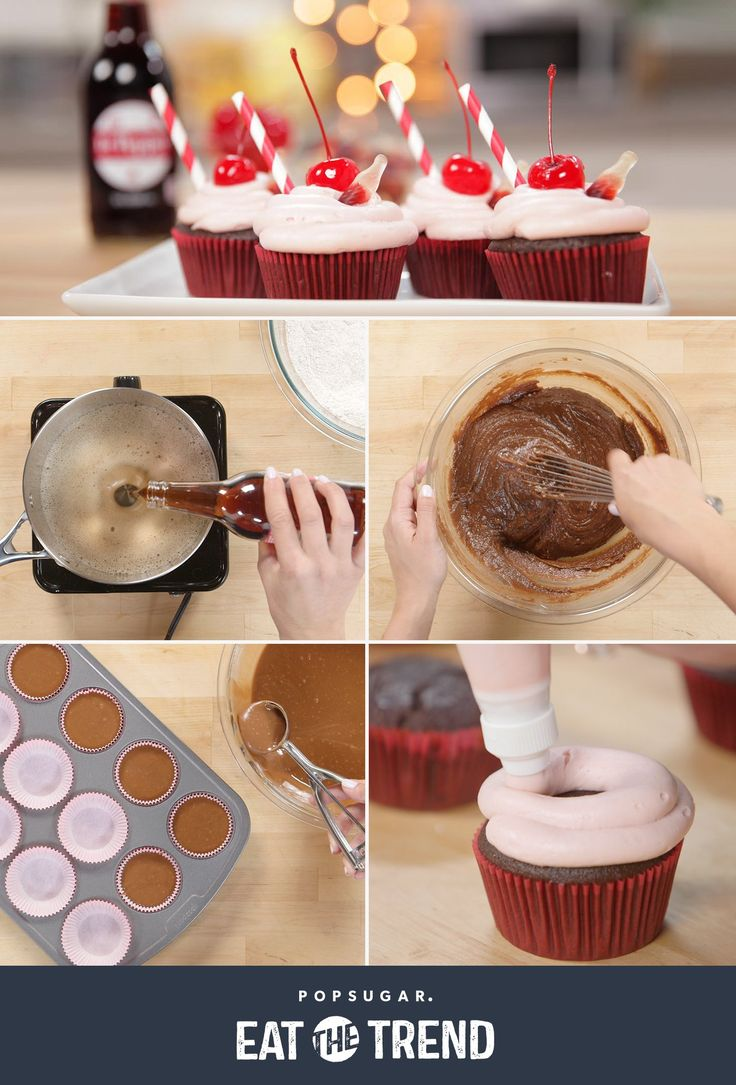 These Dr Pepper cherry cupcakes are just as delicious as they are adorable