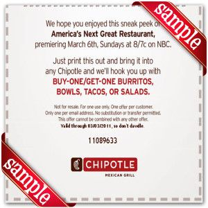Chipotle coupons march 2019