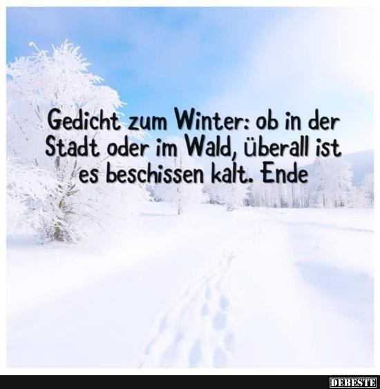 lustige sprüche winter Gedicht zum Winter: ob in der Stadt oder im Wald.. | Lustige  lustige sprüche winter