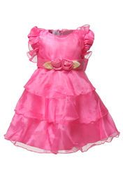 You would love to see your little princess in this lovely fuchsia frock from Anna Maria on her birthday. Gorgeous design and a lovely colour make this party wear frock an ideal birthday gift for your little sweetheart. Made from satin and tailored in comfort fit, this frock will keep your daughter cool and comfortable.