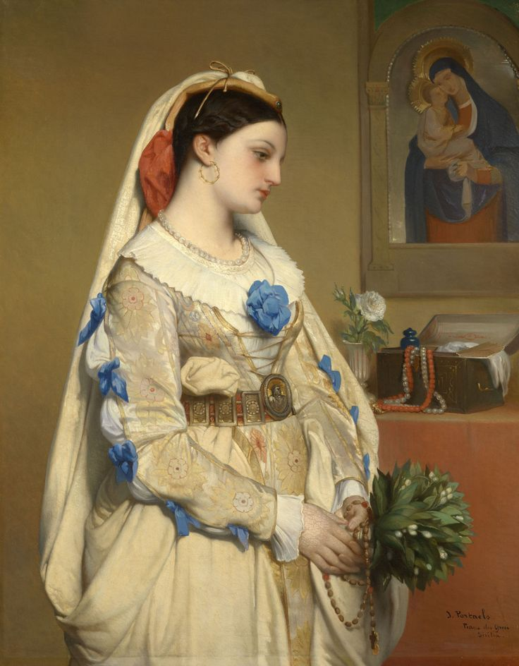 "la-catharsis: ""Jan Frans Portaels - A sicilian bride (1861) """