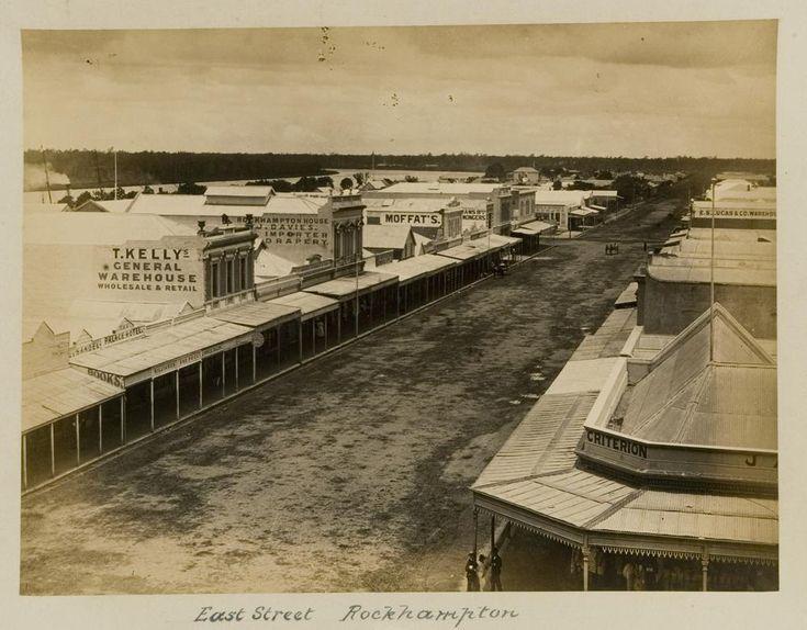 East Street in Rockhampton, ca. 1887