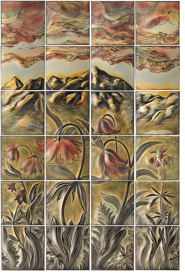1000 images about ceramic art tile murals for an alaskan for Ceramic mural painting