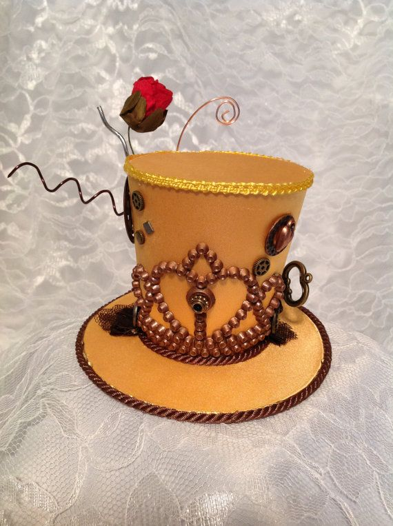 Mini Top Hat inspired by Disney The Beauty and The Beast Bell Steampunk by LiliInLace