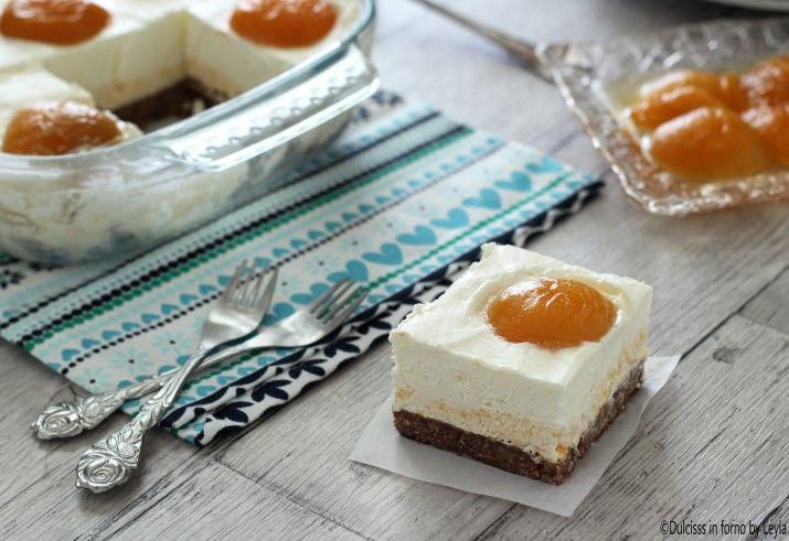 Cheesecake+alle+albicocche+senza+forno