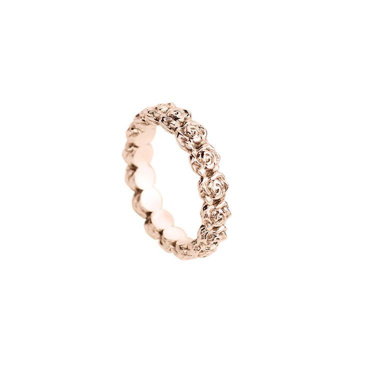 Ring with Tiny Roses - 18k rose gold #weddingband #weddingring #roses #ring #wedding #smithgrey