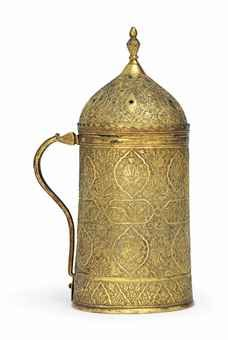 A GILT-COPPER (TOMBAK) COVERED TANKARD (HANAP) OTTOMAN TURKEY, EARLY 17TH CENTURY