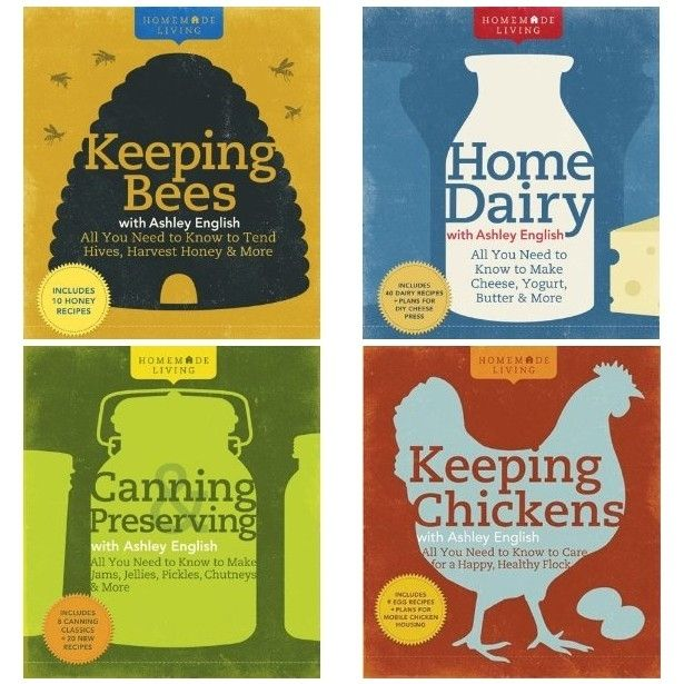 Another book series I'd like to collect: Homemade Living. I now have Canning and Preserving and Keeping Chickens. They're great!