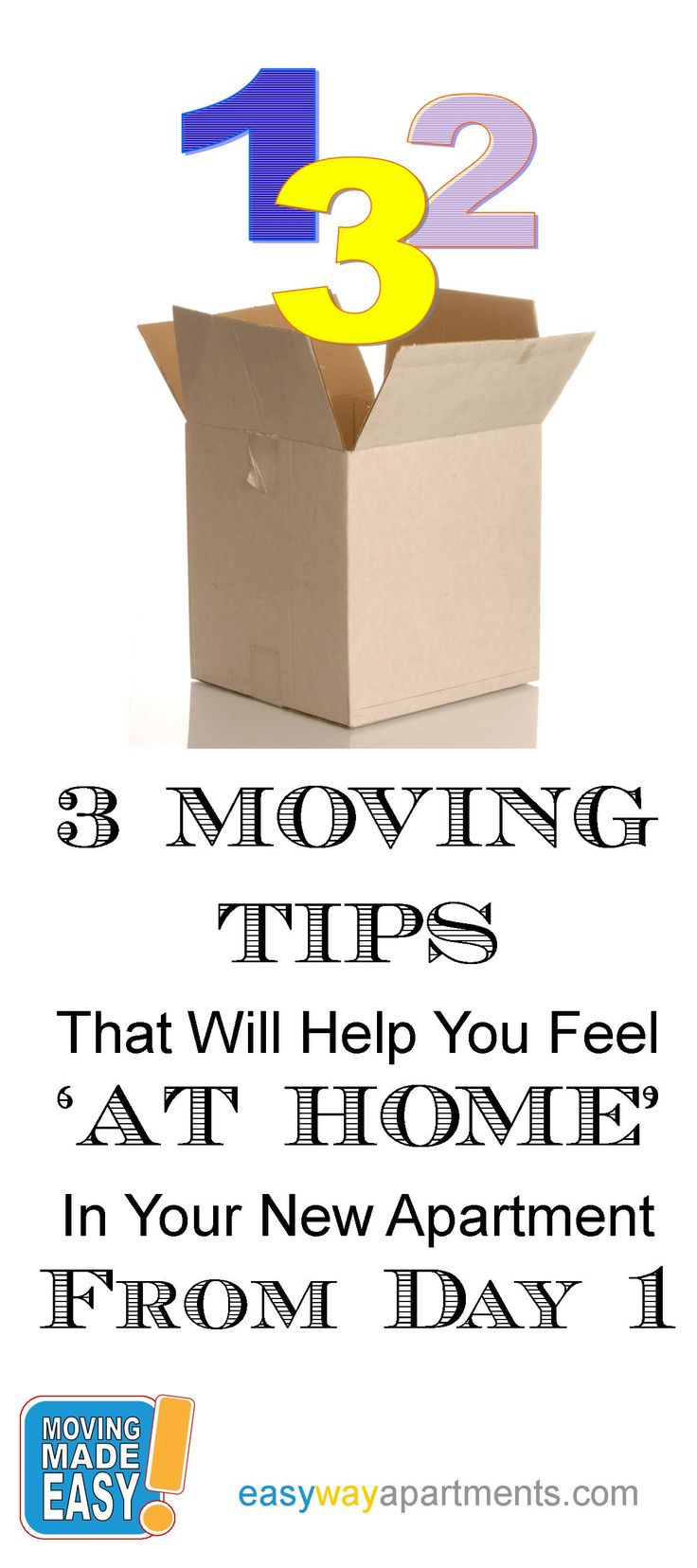 3 MOVING TIPS That Will Help You Feel  AT HOME  In Your New Apartment. 131 best Tips for an Easy Move images on Pinterest   Moving tips
