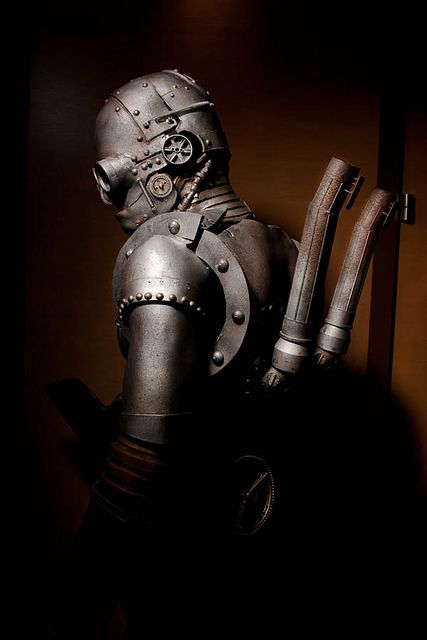 I like the steampunk looks which assume the world is so polluted you need gas masks incorporated into your gear.