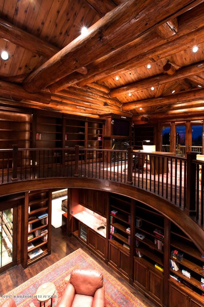 20 Best Log Home Office Images On Pinterest