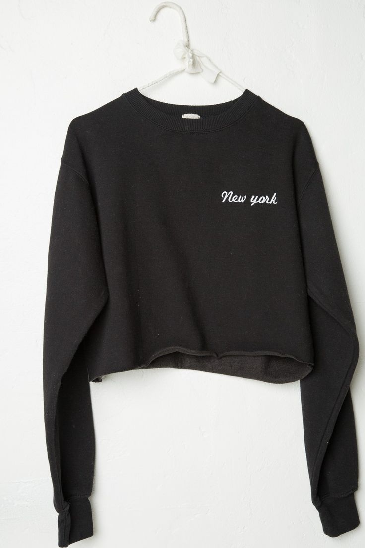 Brandy ♥ Melville |  Nancy New York Embroidery Sweatshirt - Graphics
