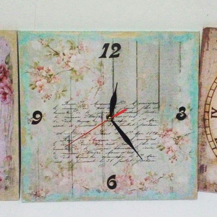 Clock face #egloryproject #decoupage #indonesia #diy