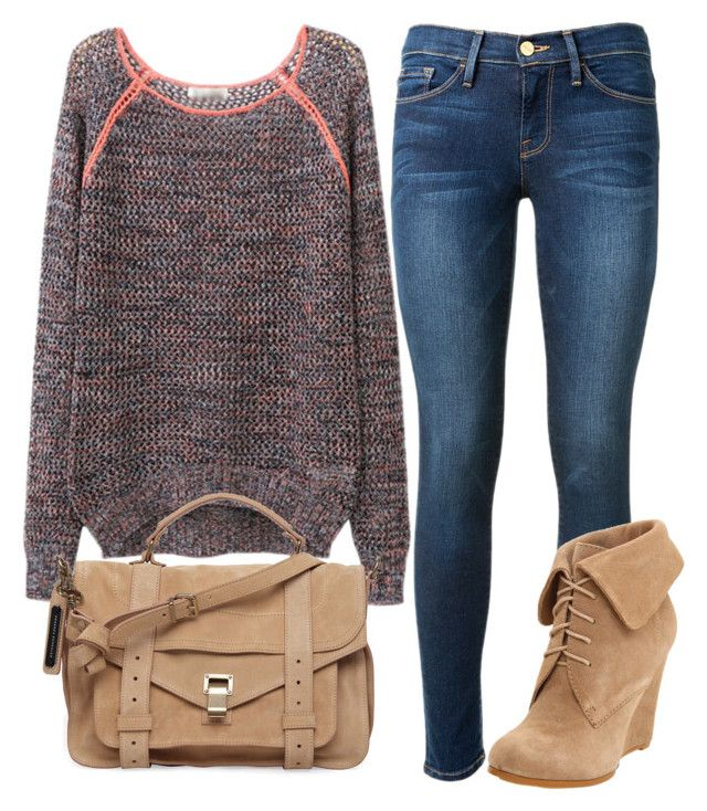 """""""TEDDY DUNCAN"""" by lina-hale on Polyvore featuring мода, Frame Denim, Volatile и Proenza Schouler"""