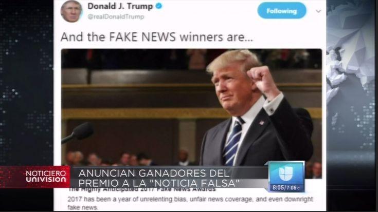 """Donald Trump Anuncia """"Ganadores"""" Al Premio Noticia Falsa Del Año"""