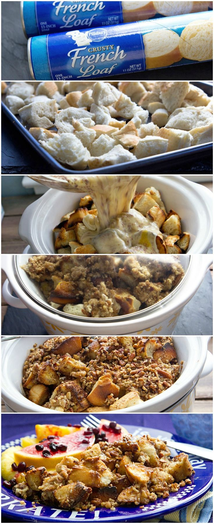 Slow Cooker French Toast Casserole....better for late morning breakfast. Unless you wanna get up at 4:00 am. :)
