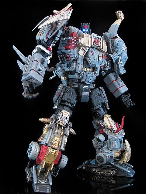 "Michael Accardi (frenzy_rumble) | ""Extinction"", custom Dinobots combiner. | #transformers #dinobots #customization"
