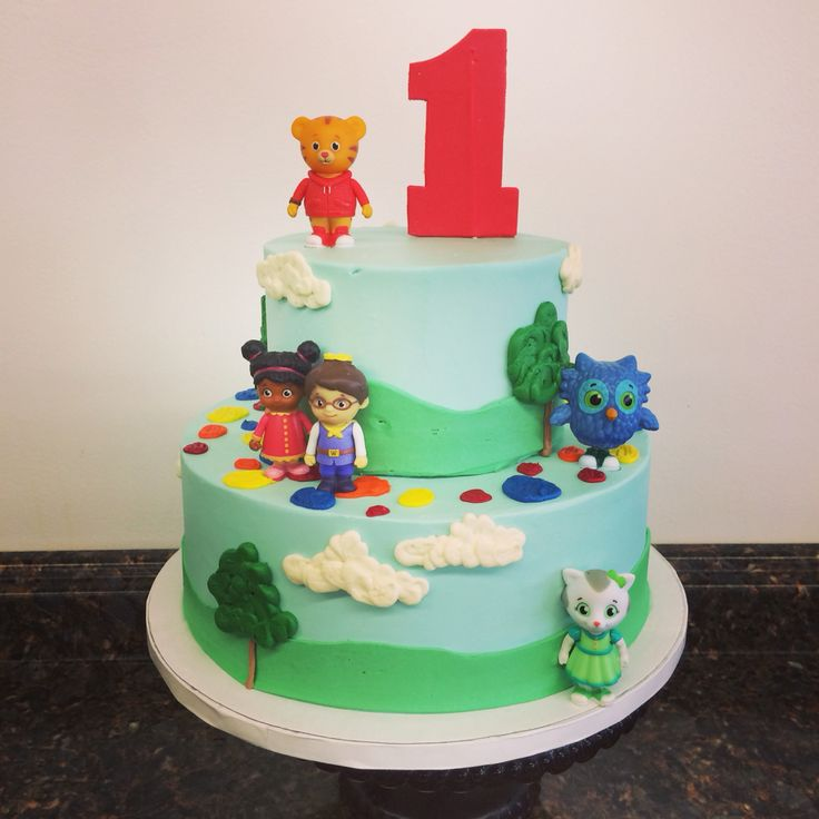 Daniel tiger birthday cake   Cami's Cake Co. in Eudora, KS   Facebook/IG/Twitter: @camiscakeco