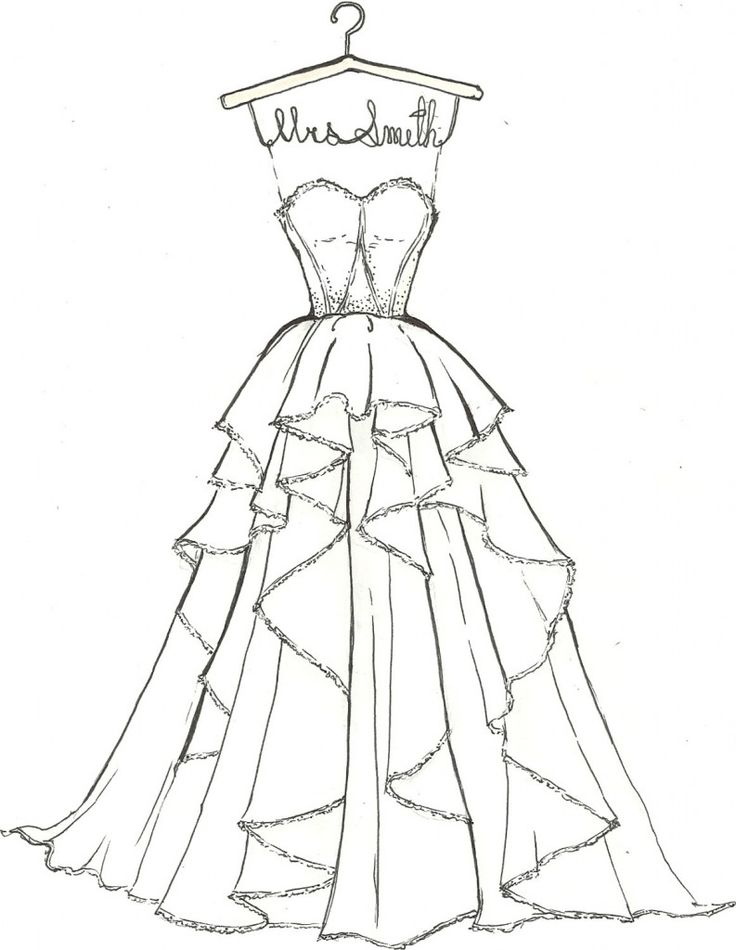 gown coloring pages - photo#5
