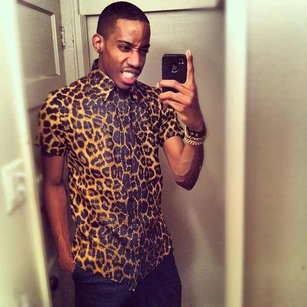 Mens Leopard Print T Shirt