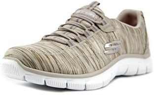 Skechers Empire-game On Women Round Toe Canvas Tan Walking Shoe.