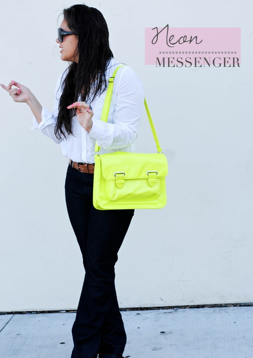 Neon Green this Spring: Neon Bag