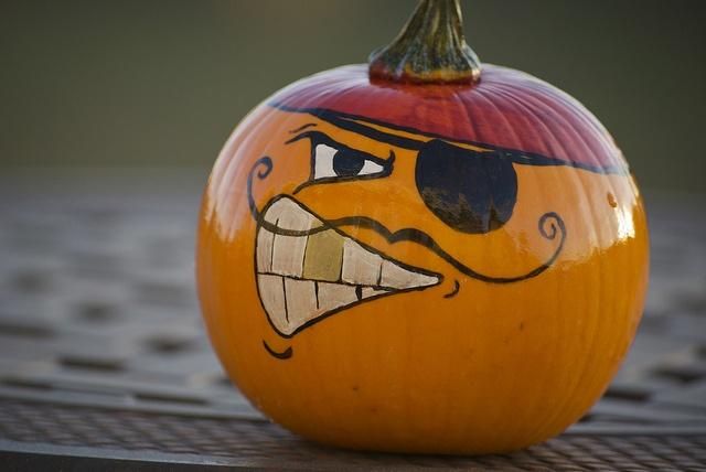 pirate painted pumpkin 2012 by lisagroon, via Flickr