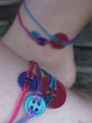 Button Friendship Bracelets