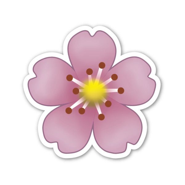 Cherry Blossom ($1) Liked On Polyvore Featuring Emojis And