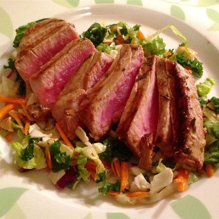 Liked- marinate longer so more orange flavor Marinated tuna steak @ http://allrecipes.co.uk