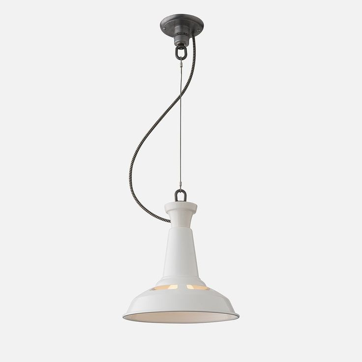 Factory Light No 4 Cable Pendant   Schoolhouse Bathroom Light