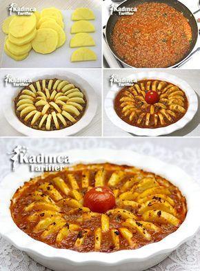 Fırında Kıymalı Patates Dizmesi Tarifi