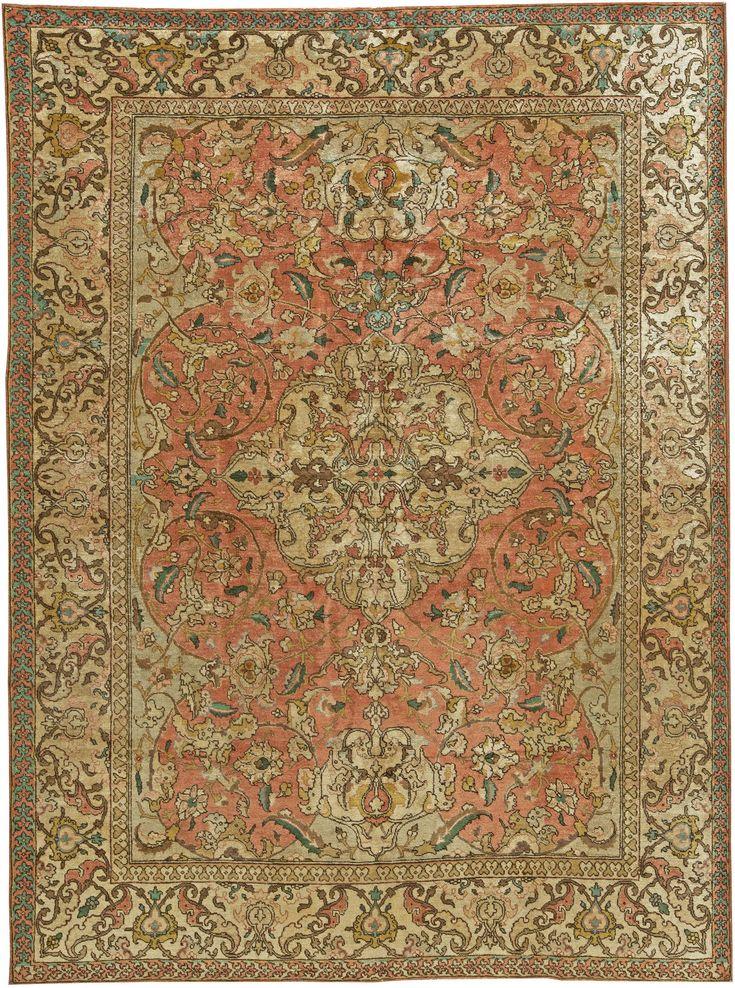 Antique Persian Tabriz Rug Bb6040 By Doris Leslie Blau
