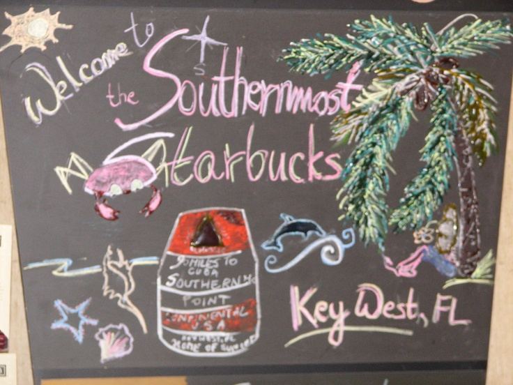 America's Southernmost Starbucks. Key West, Florida.