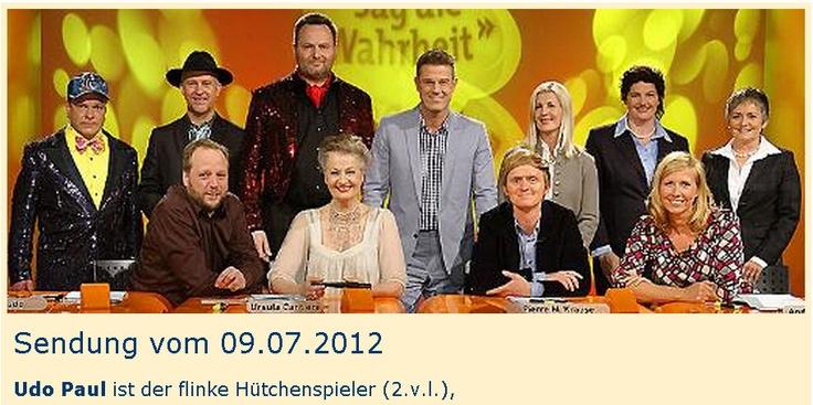 """Hütchenspieler im Fernsehen, zu Gast bei """"Sag die Wahrheit"""" im SWR 3-Studio in Baden-Baden. http://www.huetchenspieler.info"""